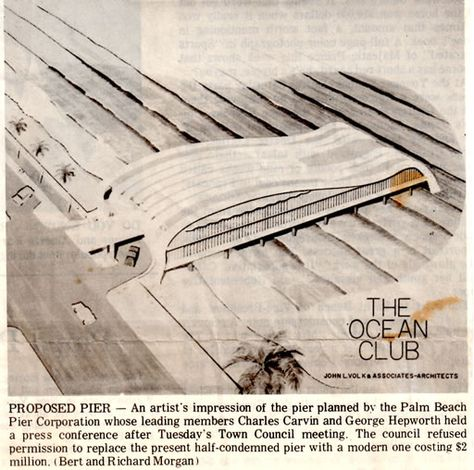 An illustration of the proposed Palm Beach Pier