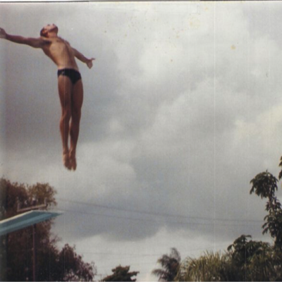James Carvin diving high