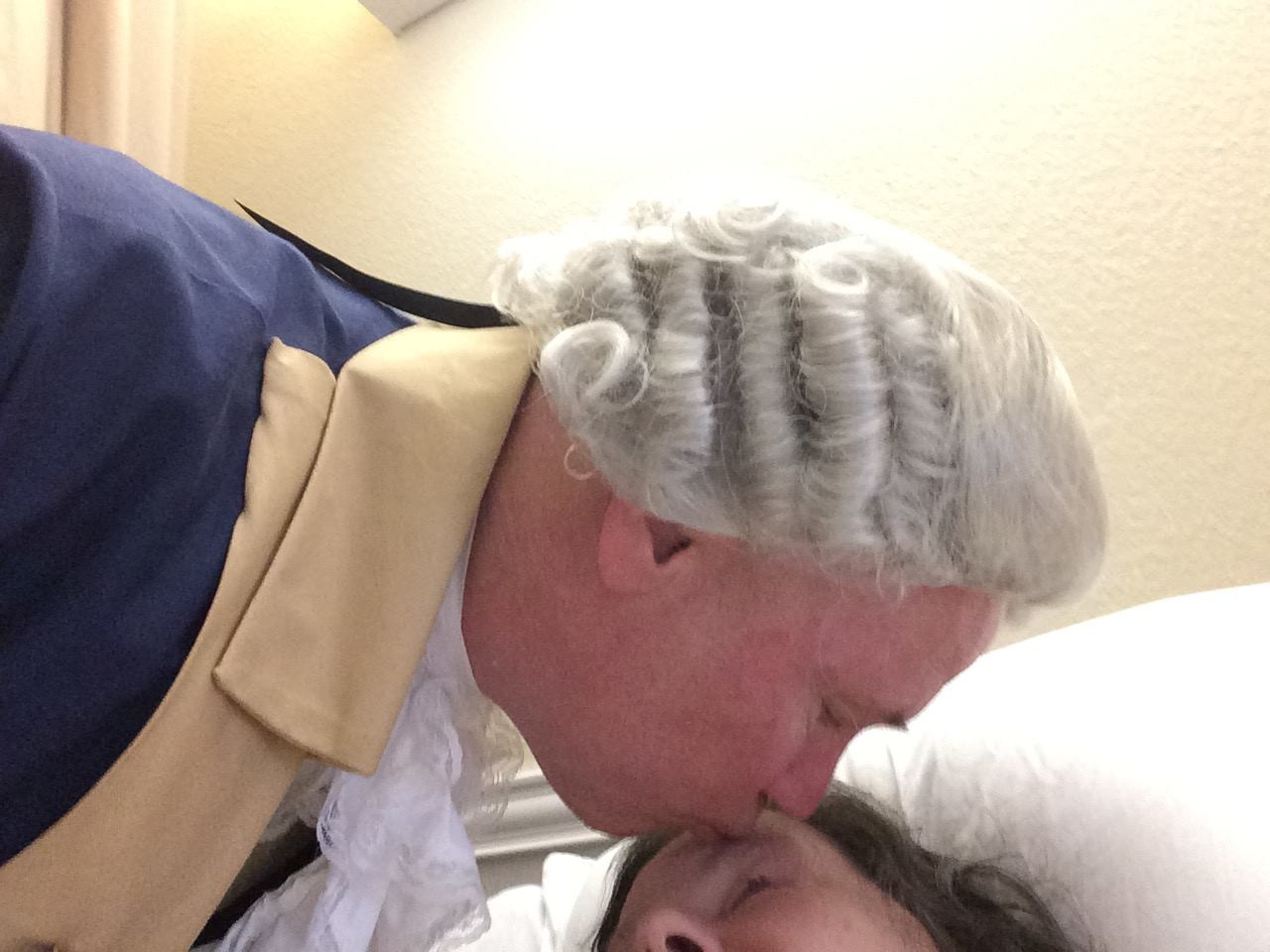 James Carvin visits his sister in a nursing home.