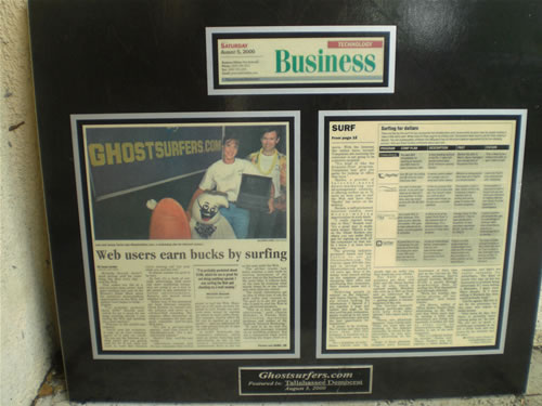 An Article featuring Ghostsurfers.com in the business section of the Tallahassee Democrat